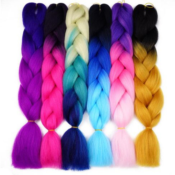 best selling Free Shipping DIY Box Braid Senegalese Twist Kanekalon Braiding Hair Synthetic Crochet Hair Jumbo Braids Hair Expression