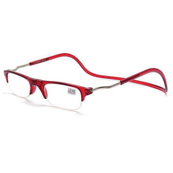 Compre Medio Marco Lente Gafas De Lectura Hombres Mujeres Gafas ...