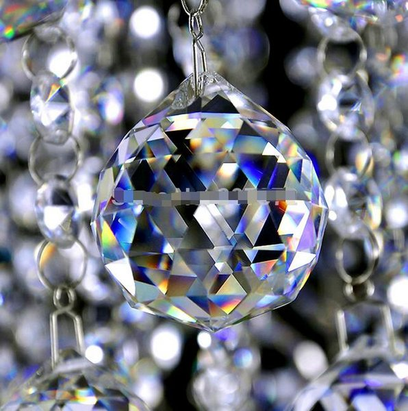 50mm Clear Crystal Chandelier Ball, Window Suncatchers Hanging Christmas Ornament,Crystal Faceted ball Free Shipping