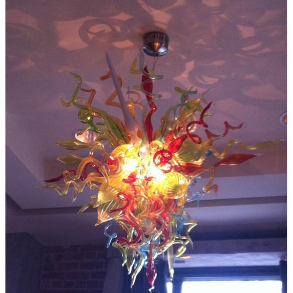 Lámparas de estilo europeo 110v 120v 220v 240v LED Lámpara de salón vintage Soplado vidrio de Murano