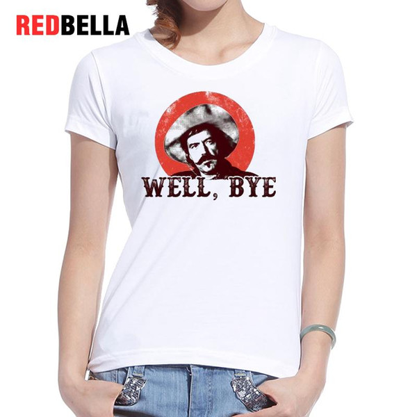 Women's Tee Redbella Tee Shirt Femme 2017 Pop Culture Mexicans Cowboys Vintage White Daily T-shirt Casual Print Short Sleeve Camiseta Mujer