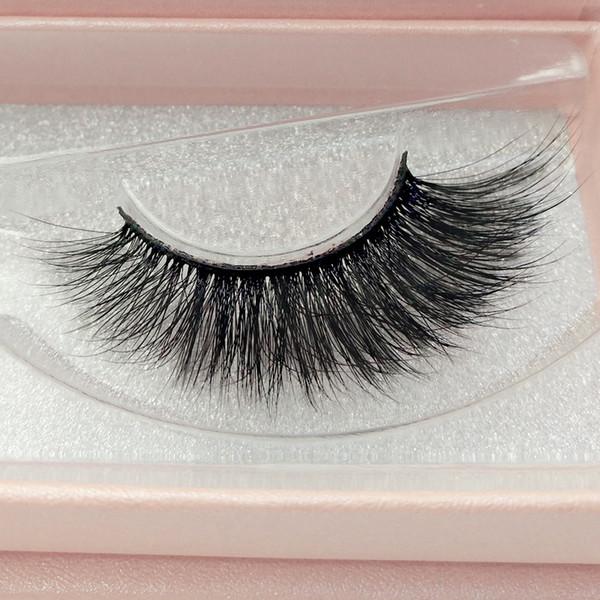 Venda quente 2 pares / caixa cílios postiços 3d vison cílios caixa rosa grosso maquiagem cílios para cílios extensão frete grátis