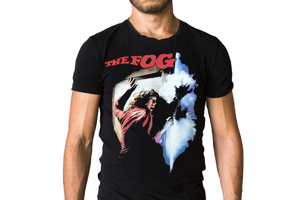 The Fog 1980 Film Poster T-Shirt High Quality Custom Printed Tops Hipster Tees T-Shirt
