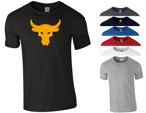Brahma Bull Camiseta The Rock Project Gym Bodybuilding MMA Workout Regalo Hombres Top