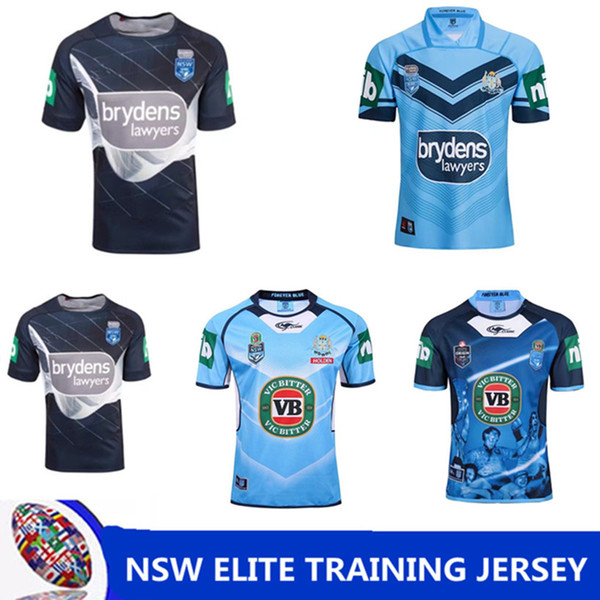 NRL National Rugby League NSW STATE OF ORIGIN 2018 ELITE TRAINING TEE LIGHT BLUE NSW SOO 2018 JERSEY Queensland Maroons NSW RL Holden Rugby