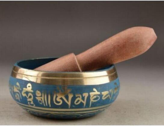 beautiful Tibetan Buddhism Cuprum Mantra Singing Bowl