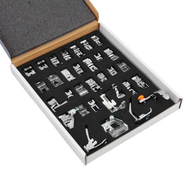 32pcs Domestic Sewing Machine Foot Feet Set For Brother Singer Janome Elina