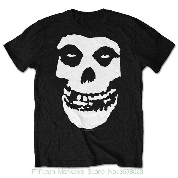 2018 New Short Sleeve Men Tshirt Large Black Misfits Classic Friend Skull Men's T-shirt. Fiend Mens Short