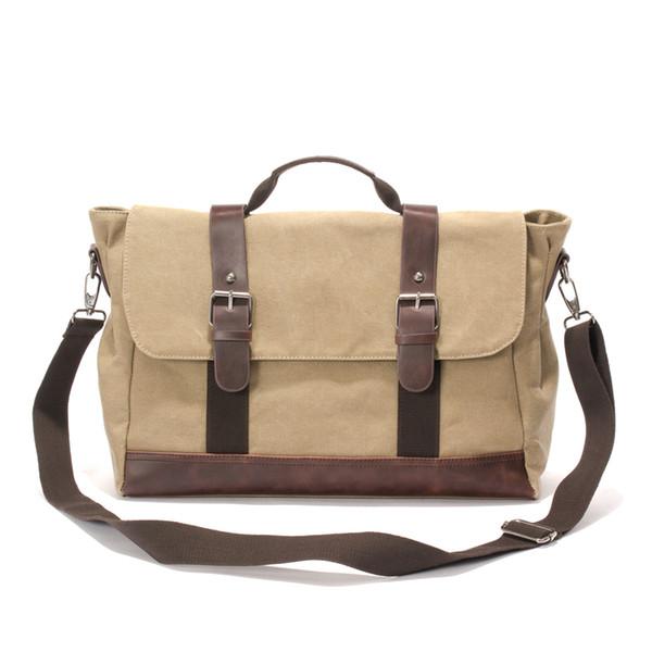 Men Messenger Bag Canvas Shoulder Bags Large Capacity Crossbody Bags Vintage Satchel Business Laptop Briefcase Hand Bag for School C105