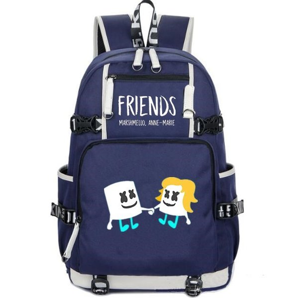 Anne marie backpack Friends school bag DJ Marshmello daypack Casual laptop schoolbag Outdoor rucksack Sport day pack
