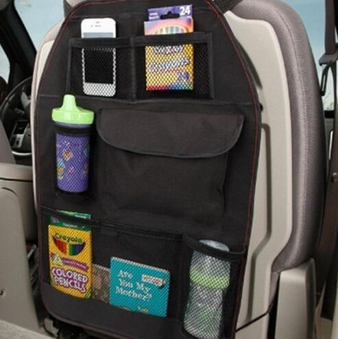 Free Shipping Car Seat Storage Bag Car Covers Back Seat Organizer Auto Multi-Pocket Trash Net Bag Assorted Bag Pocket Container