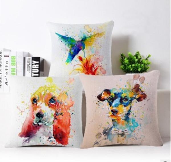 24 style fashion DIY creative animal printed cartoon pillows waist pillow cover cushion pillow throw for hotel coffee home decor pillowcase