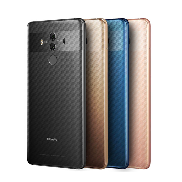 10PACK Protective Back Film For Huawei Mate 10 lite Pro 9 8 3D Carbon Fibre Rear Screen Protector Honor 6A 6C 6X 7X 7C Not Glass
