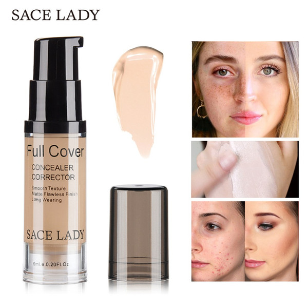 SACE LADY 6ml Concealer Makeup 5 Colors Full Cover Face Corrector Cream Waterproof Natural Make Up For Eye Dark Circles Cosmetic