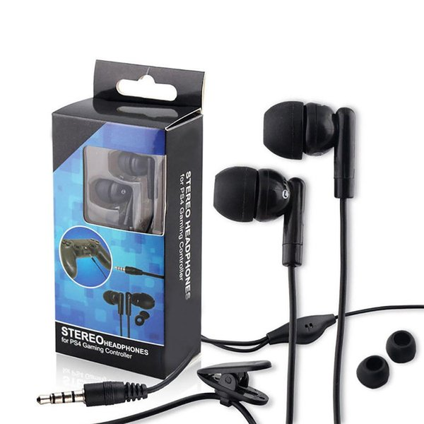 New Wired In-Ear Earphones Microphone Clip Gaming Headset for PS4 Xbox One Gamepad
