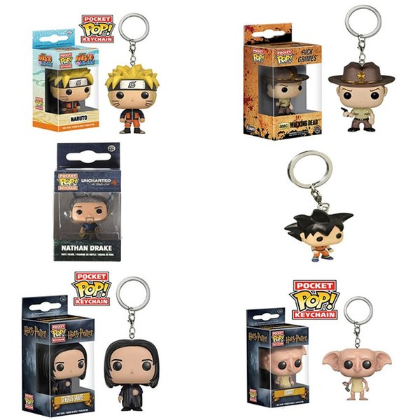 FUNKO POP Comic Garage Kit Q Version Image Model Collector Of Animation Movie Figures Boy Key Chain 16sc W