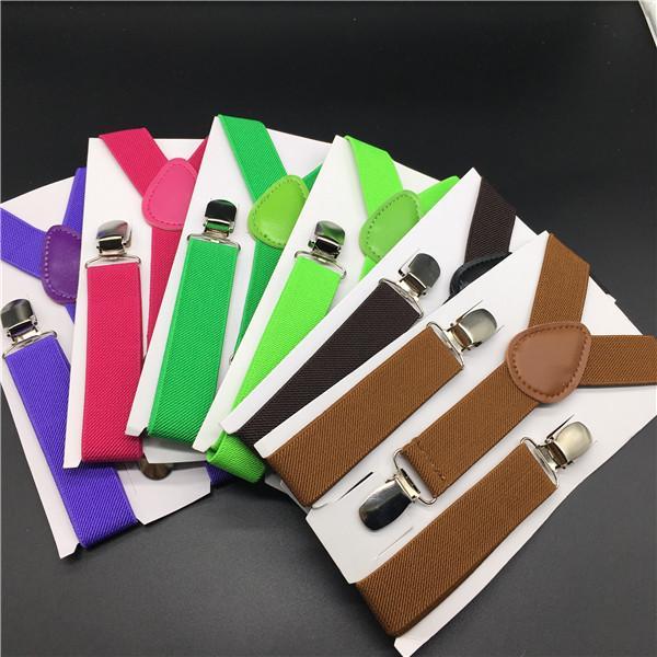 20pcs nuovi bambini bambini ragazzo ragazze clip-on y back bretelle elastiche bretelle regolabili regalo di natale a colori