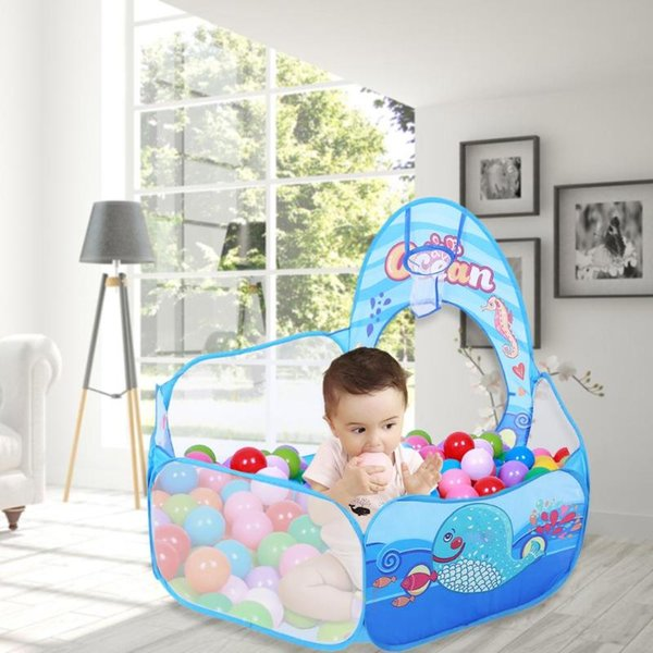 promo code c3bc9 76ecd 3 In 1 Foldable Kids Crawl Tunnel Play Tent Baby Ocean Ball Pool Toy Kit  Inflatable Pool Folded Folded Portable Kids Playhouses Childrens Indoor  Tents ...
