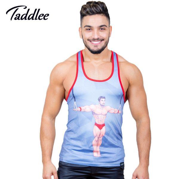 Taddlee Brand Mens Tank Top Shirts Tees Gym Bodybuilding Fitness Muscle Run Basketball Undershirts Vest Stringer Singlets Shirts