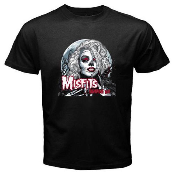 New Misfits Vampire Girl Album Cover Men's Black T-Shirt Size S M L XL 2XL 3XL