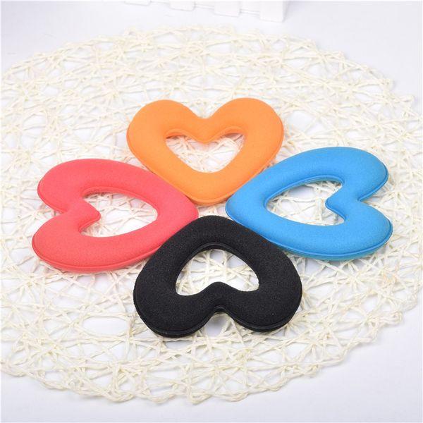 064 neue Liebe herzförmige Haare Französisch Stil große Schwamm Haar Ring weibliche Blume Kugelkopf