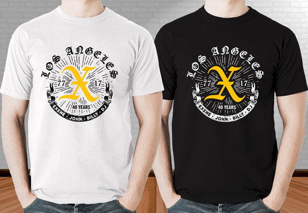 X Punk Rock Band '77 17 40 Years Los Angeles Men'S Black And White T Shirt  Really Cool Sweatshirts The Following T Shirts From Xsy13tshirt, $12 05|