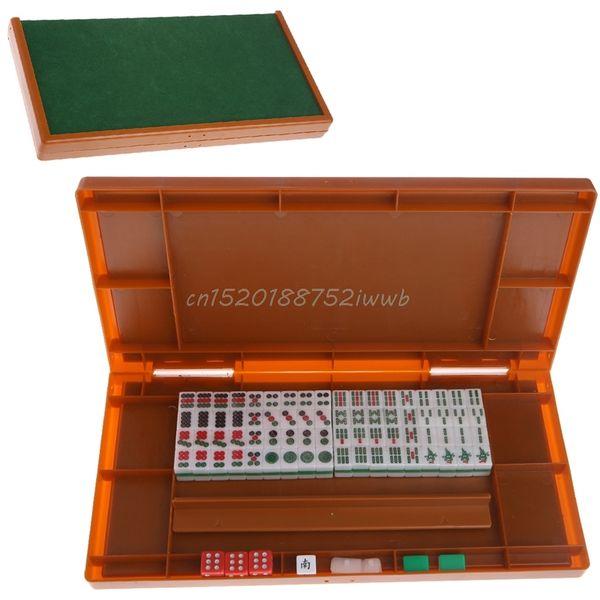 Portable Mini 144 Mahjong Set Mah Jong Table Traditionnel Voyage Voyage Pliable # T026 #