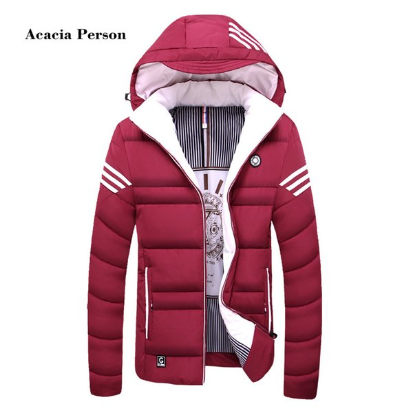 2018 New Winter jacket Men casual warm cotton down Parka coat mens jackets and coats thicken outwear brand clothing Asian size C18111301