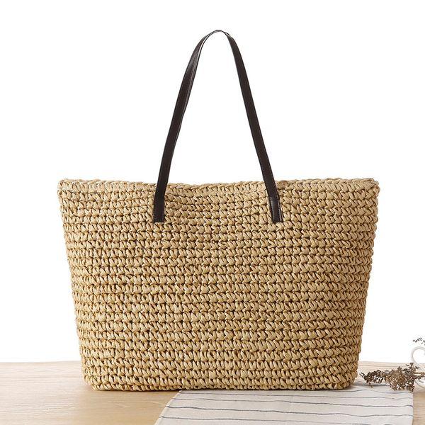 Summer shoulder Bags For Women 2018 Luxury Handbags Women Bags Designer Famous Brand Ladies Rattan Beach Bag Wicker Straw Bag