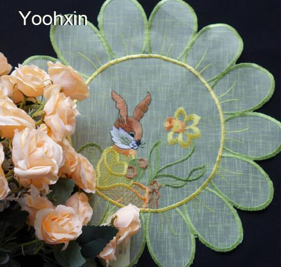 Modern lace embroidery table place mat cloth placemat pot Cup mug holder round coaster dining doily drink pad Christmas kitchen