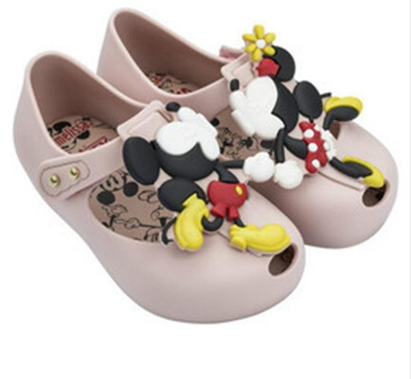 Melissa New Summer Mini Twins Mouse Animal Pattern Shoes Jelly Shoe Sandals Girl Non-slip Kids Sandal Toddler