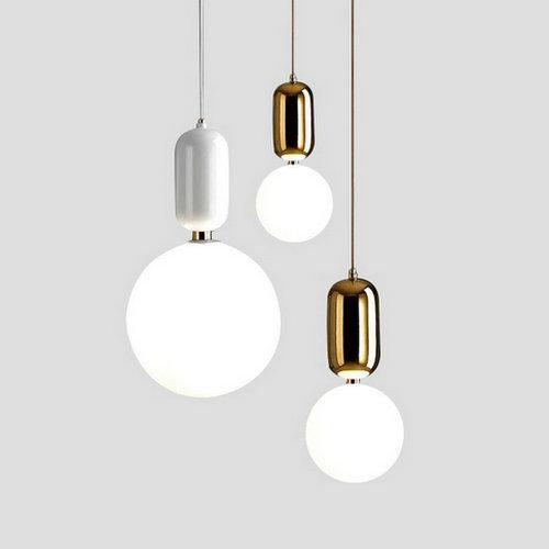 Modern Glass LED Pendant Lights Fixture Hanglamp Designer Loft Style Retro  Kitchen Lamp Metal Industrial Lighting Bedroom Bar Lighting Pendants Bronze  ...