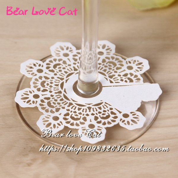 60PCS New Arrival Snow Christmas Party Decoration, Royl Wine Glass card or Bookmark Laser Cut place name card Unique Wedding Party Favor