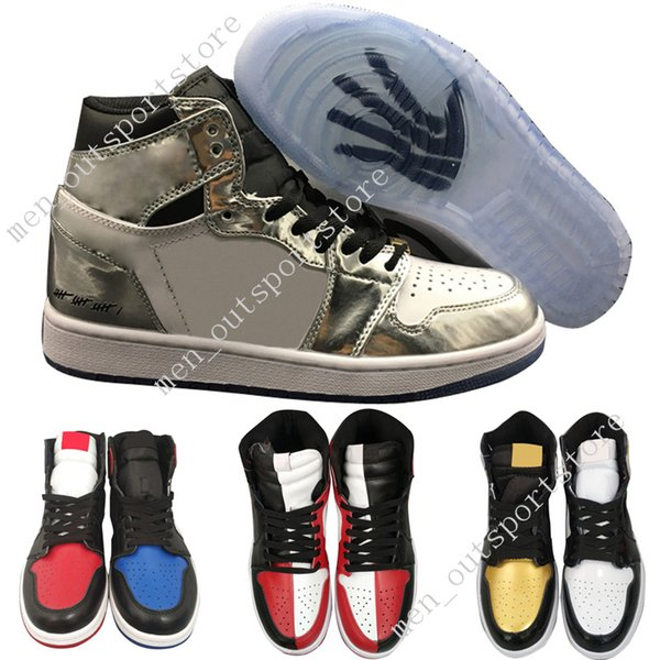 1s OG 1 top 3 mens basketball shoes Homage To Home Banned Bred Toe Chicago Royal Blue Gold Pass The Torch Melo men sports sneakers outdoor