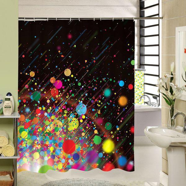 Großhandel Bunte Dot Duschvorhang Stoff Polyester 3D Druck Abstrakt Bad  Fenster Vorhang Für Badezimmer Dekor Von Sheiler, $30.71 Auf De.Dhgate.Com  | ...