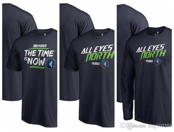 5b7eea01c Playera para hombre Minnesota Timberwolves Fanatics Branded 2018 Playoffs  Slogan Manga larga camiseta de manga corta