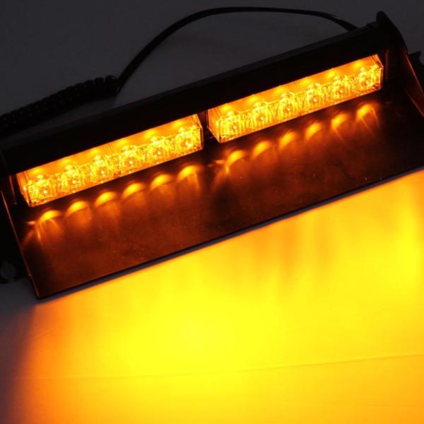 6LED X 1WHigh Brightness Lightning Flash Windshield Strobe Warning Light with12 Watt Led Light Beads Cigarette Lighter