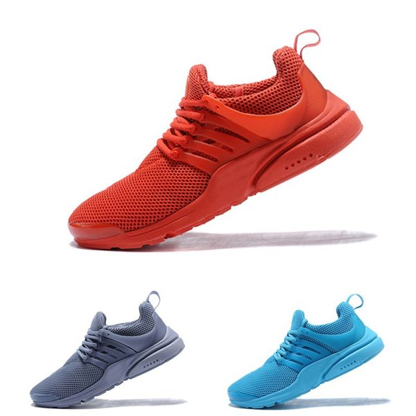New 2018 Prestos 5 Running Shoes Men Women Presto Ultra BR QS Yellow Pink Oreo Outdoor Fashion Jogging Sneakers Size US 5.5-12