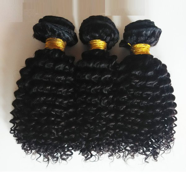 Unprocessed Brazilian European Virgin human hair weft best quality 8-26inch Kinky Curly hair Sexy Mongolian Indian remy Hair extension