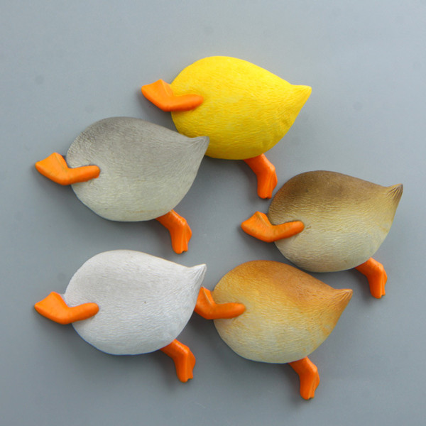 Cartoon Cute Duck Ass Fridge Magnet Kid Early Education Animal Magnetic Stickers For Kids Fridge Resin Figure Sticker Suppliers
