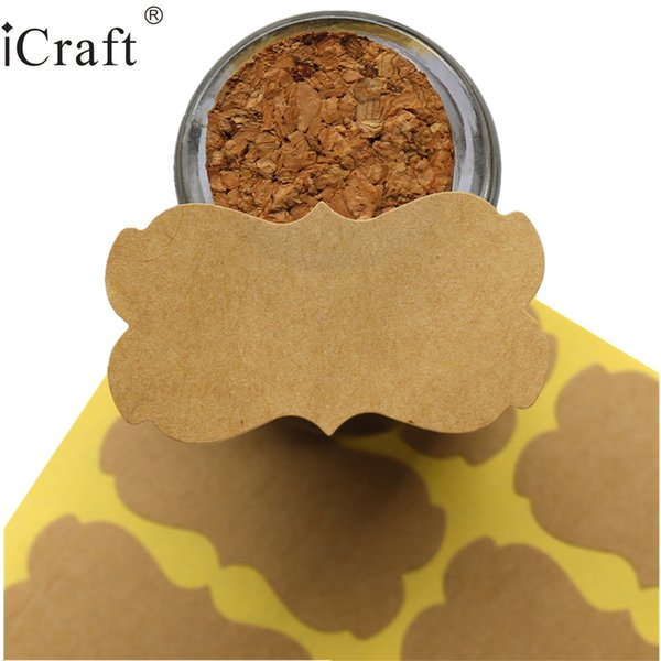 for party 1200pcs Big size Kraft Blank Seal Sticker Blank Gift Seal Label Paper Sticker For Party Favor Gift Bag Candy Box Decor