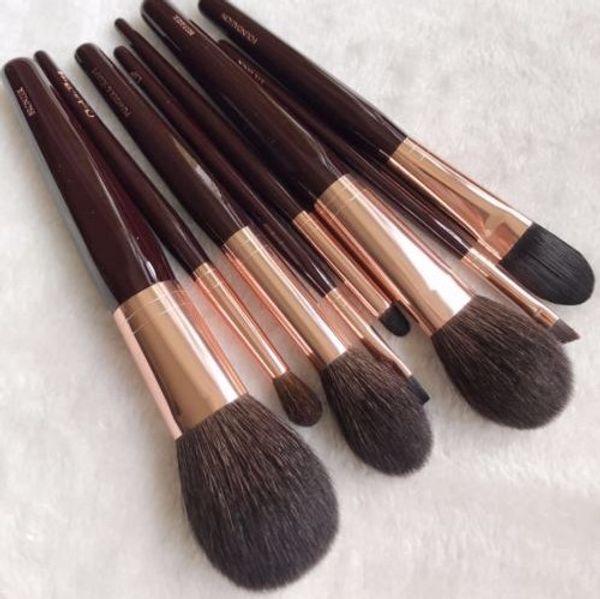 Dropship 8 PCs Foundation/Brusher/Eyeshadow Makeup Brush Set for Charlotte T Luxury Powder & Sculpt Beauty Brushes New/Full Size In Box