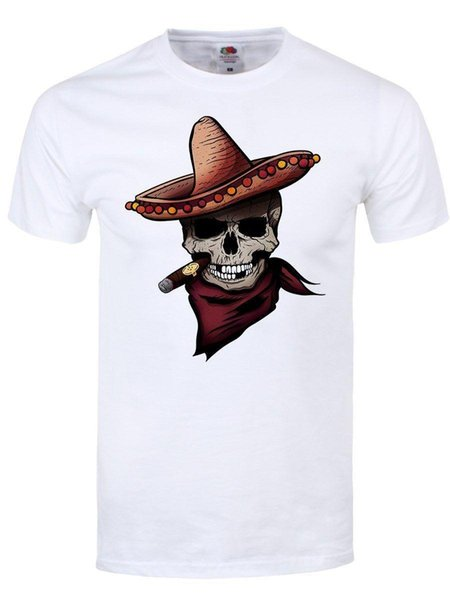 Unorthodox Herren T-Shirt Sombrero Skull Summer New Men Cotton T-Shirt top tee Sleeves Boy Cotton Men T-Shirt top tee