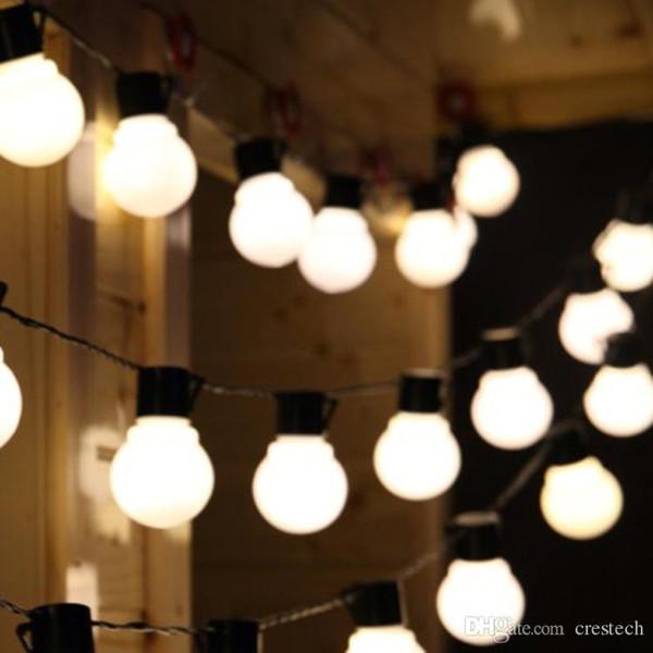 Las luces de Navidad 2.5m 5m 10m Led centellea la luz al aire libre Decoración de Navidad se enciende 110-220 La luz LED G45 llevó el bulbo