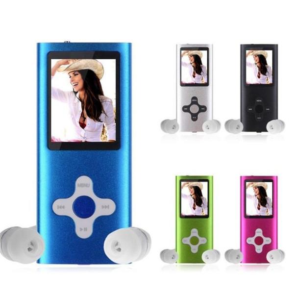 "FGHGF 2018 Hot sale Fashion 8GB Slim Digital MP4 MP3 Music Player 1.8"" LCD Screen FM Radio Video Movie Music Player LCD Screen"