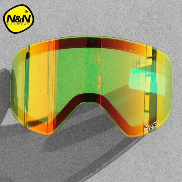 NANDN Spezialität Wechselobjektiv NG6 Original Objektiv Big Sphärische Männer Frauen Graced Snowboard Skibrille Nachtsicht NG6L
