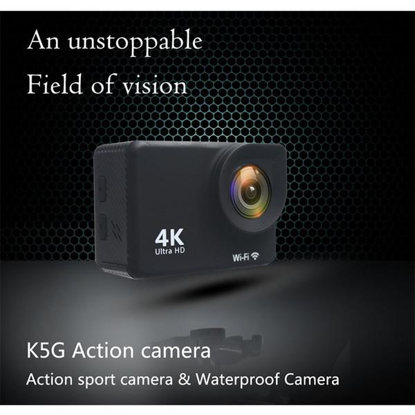 best selling K5G Action Camera PK SJ4000 30M Waterproof HD 4K Sport Camera 2.0 Inch LCD Display 140 Degree Wide Angle Lens Outdoor Camera