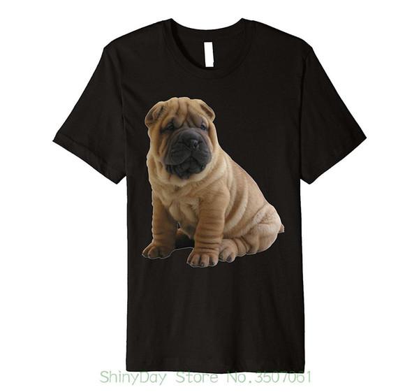 Hip Hop Novelty T Shirts Men's Brand Clothing Shar Pei Cute Dog Tee Shirt