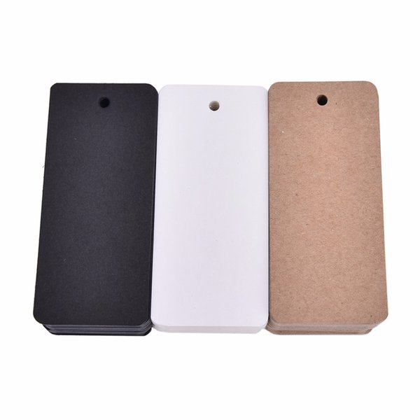50 pcs Kraft paper hang tags Price Tag Blank Note Card Wedding Party Favor Price Punch Label Gifts Stationery Supplies