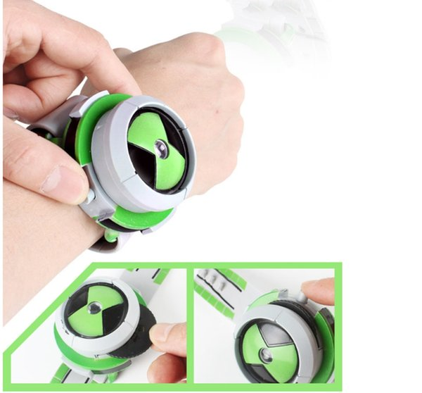 2018 New Hot Selling Ben 10 Style Japan Projector Watch Ban Dai Genuine Toys For Kids Children Slide Show Watchband Drop